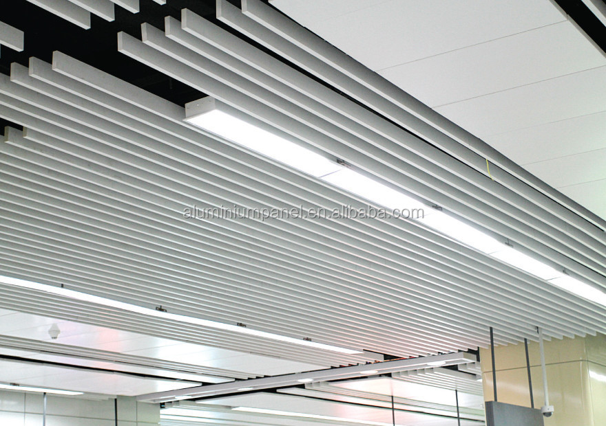 2015 New Pop False Ceiling Design U Shaped Baffle