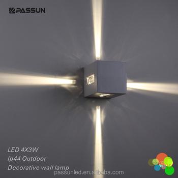 Modern Cube Shape 12w Led Outdoor Wall Light
