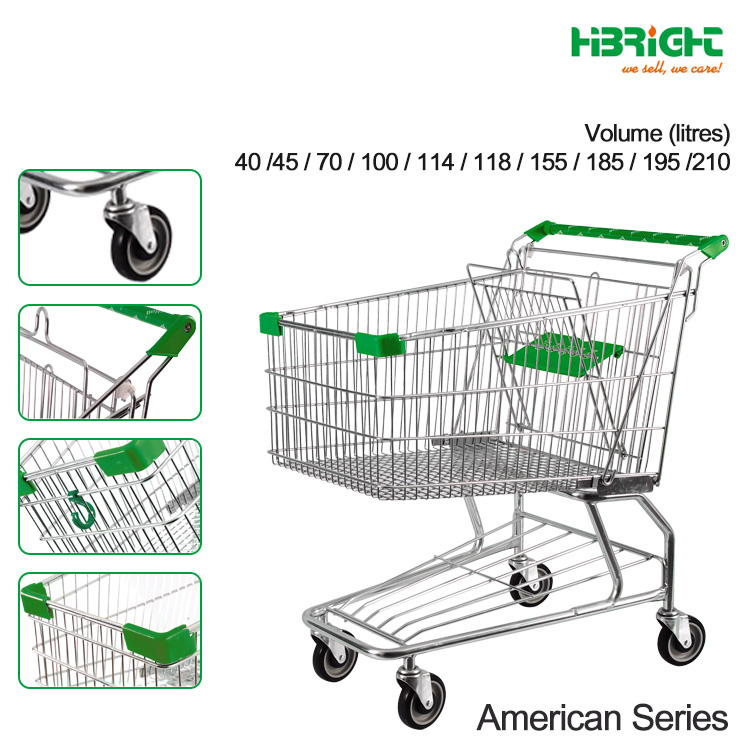 how much does an american style shopping cart weigh