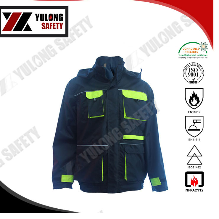 Cheap Price Washing 100 Times Color Fastness 4-5 Grade Flame Retardant Jacket