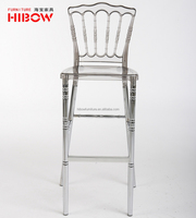 China beautiful aluminium leg resin napoleon barstool furniture