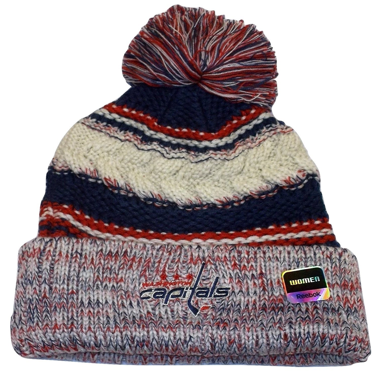 d531a00d108 Get Quotations · Washington Captials CCM NHL Womens Knit Beanie Toque Hat  Cap OSFA