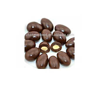 milk chocolate almonds bean