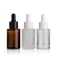 10ml 20ml 30ml Amber Glass Dropper Bottles Essential Oil Bottle Customize 30ml 50ml Frosted Cosmetic Bottle