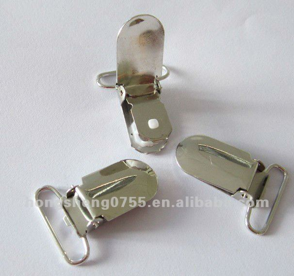 1 inch Brilliant nickel suspender clip