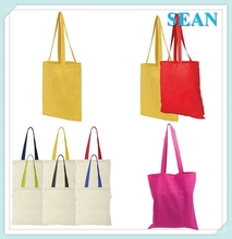 Reusable Cotton Tote Bag Flower Print Foldable Shopping Bag For Wholesale