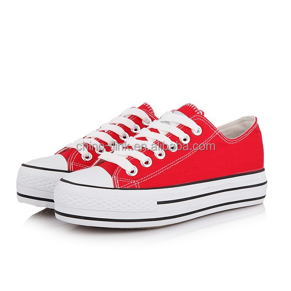 Classic style plain white canvas shoes wholesale