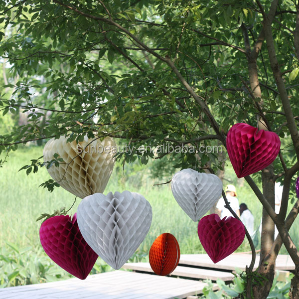 Honeycomb Paper With Christmas Tree Shape For Decoration Ornaments ...
