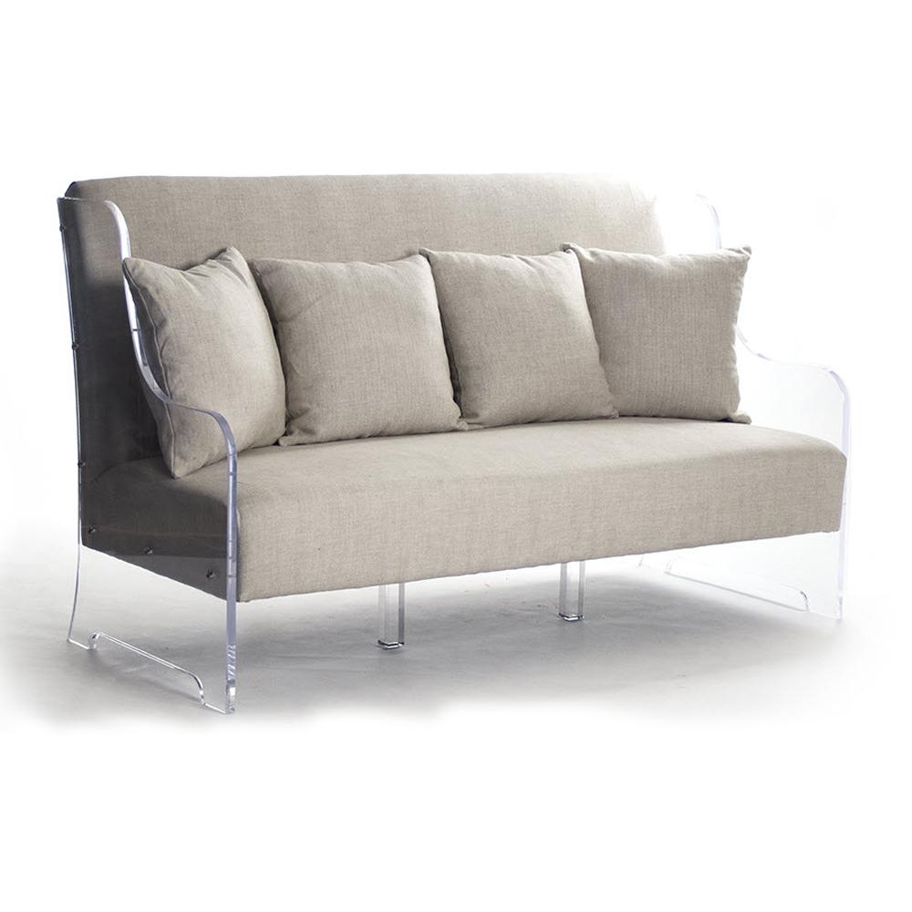 custom luxury furniture clear acrylic base sofa home
