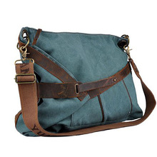 Cinturino in pelle signore canvas messenger <span class=keywords><strong>bag</strong></span> <span class=keywords><strong>weekend</strong></span> <span class=keywords><strong>bag</strong></span>