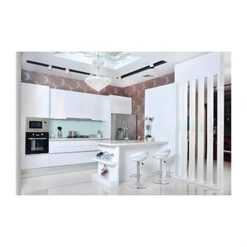 Modern Design Mdf High Gloss White Lacquer Finish Kitchen Cabinets