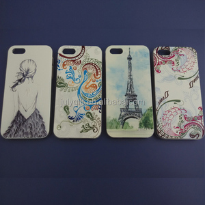 custom design embossed paintable plastic case for iphone5