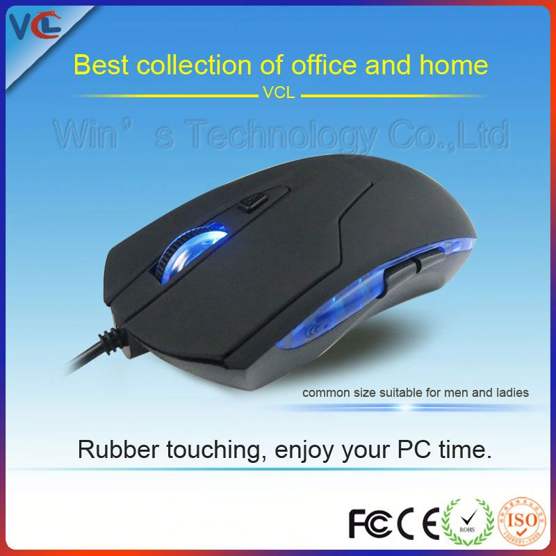 New Arrival Wired Light Up Transparent Fancy Computer Mouse wired optical usb mouse