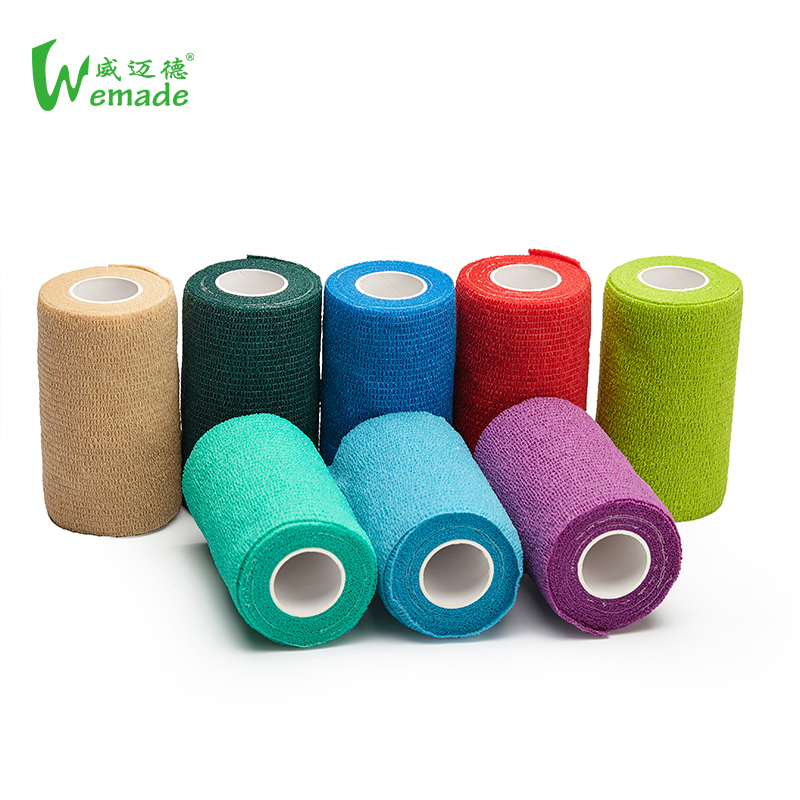 Hand tear products medical stretch nonwoven elastic self-adhesive adherent hoof leg vet wrap cohesive horse bandage for animals