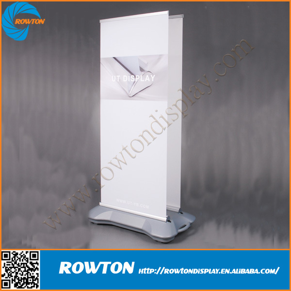 Water base roll up banner stand double side outdoor display stand