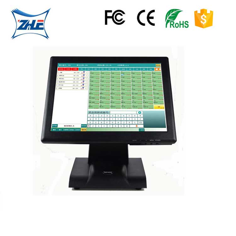 15 inch touch screen resistive/capacituve monitor for restaurant supermarket