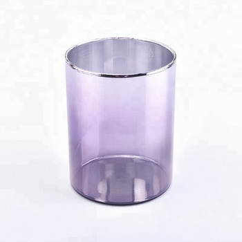 New Arrival Luxury Decorative Ion Electroplating Glass Candle Holders
