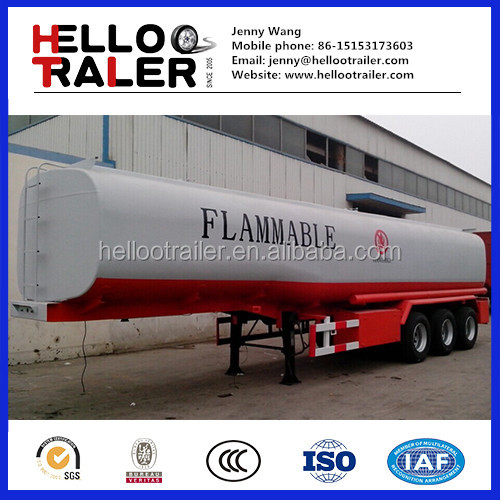 3 Axle Stainless Steel 45000 Litres water/milk Tank Trailer