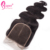 6x6 Free Part Body Wave Human Hair Closure Bleached Knots Cuticle Aligned Wavy Brazilian Weave Pieces With Baby Hair Extensions