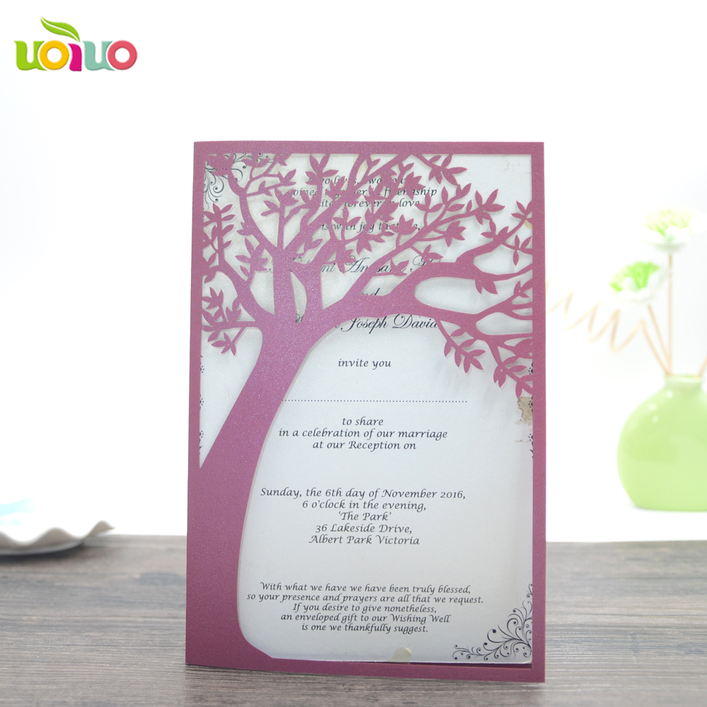 Flower And Tree Wedding Invitation Cards Vine Lace Latest Wedding ...