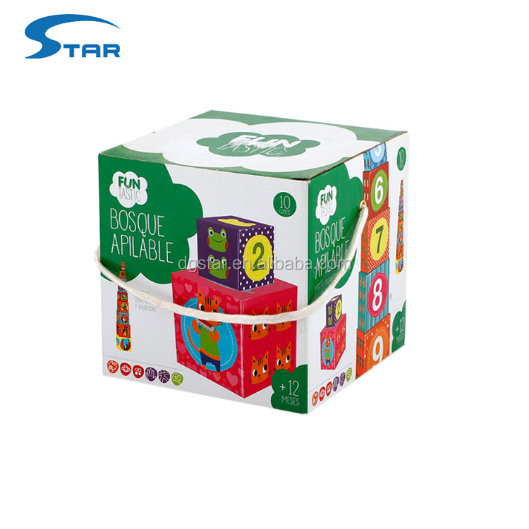 Custom Print Paper Cardboard 10 Stackable Learning Nesting Blocks