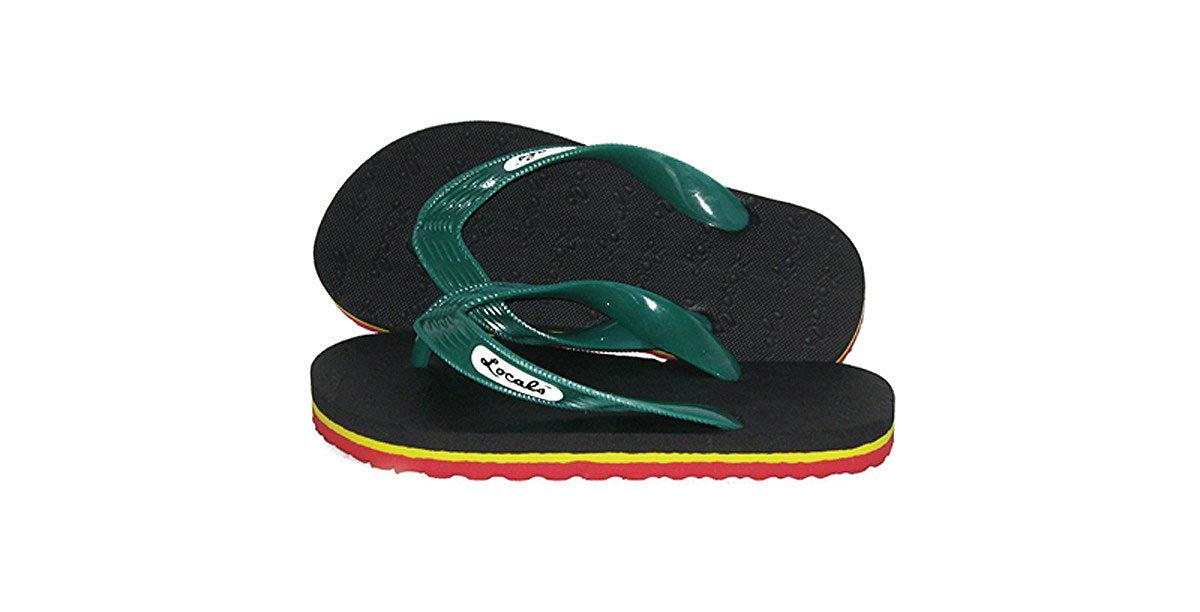 AolaZW Kids Sunflower Flowers Beach Sandal Non-Slip Bath Slipper Black