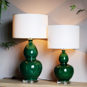 Chinese Style Gourd Shape Porcelain Table Lamps Buy Porcelain