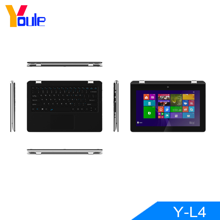 Factory wholesale 11.6 inch touchscreen 360 degree flip quad core Z8300 4G 64G yoga mini laptops cheap laptops