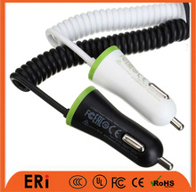 Best NEWS promotional mobile phone use 1 port and universal usb charger, car charger with cable