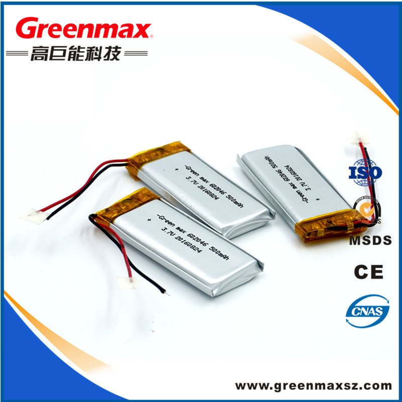 Factory directly selling standard lipo battery 3.7v 75mah for bluetooth headset