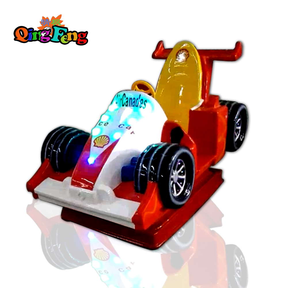 Qingfeng 2017 carton fair mini kiddie ride Formula car games kids swing game machine