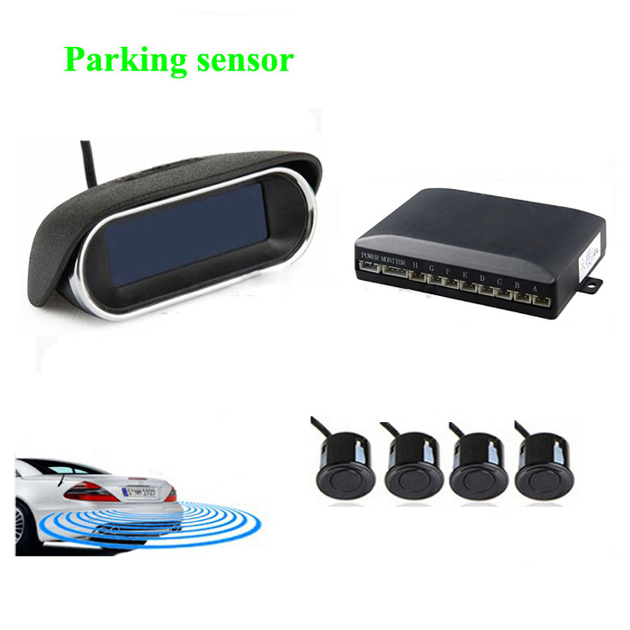 Parktronic parking sensor System with 4 sensor 6 Color fashion buzzer alarm styling wireless LCD display Reverse Radar Rear view