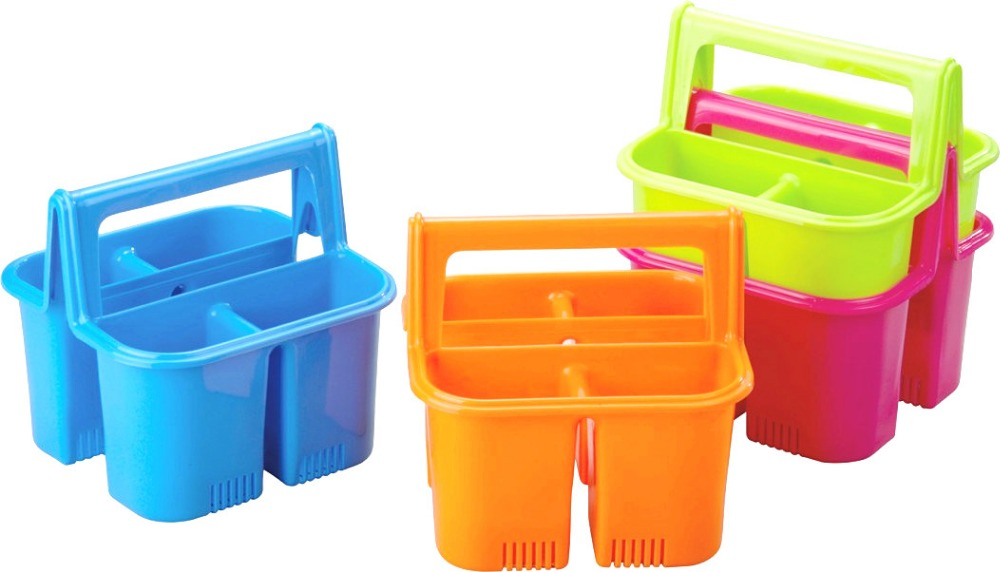 Home Amp Kitchen 4 Compartment Plastic Cutlery Holder