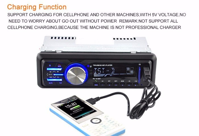 Bluetooth Hands-free Car Bluetooth Hands-Free Call Music Play Stereo MP3 Player FM Radio Support AUX USB SD Card Single Din