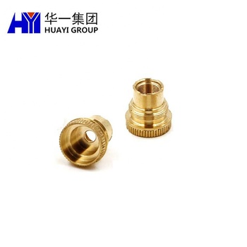 CNC machined brass electric terminal custom machinery part
