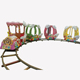 outdoor playground ride electric mini track train for sale