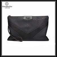 New trendy soft genuine leather men clutch bags/ zipper clutch wallet for men