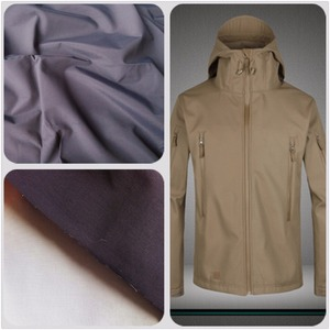 PU+tricot 100 polyester taslon fabric, softshell polyester fabric