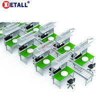 Top Manual Assembly Lines Small Conveyor Belt Line For Pcb