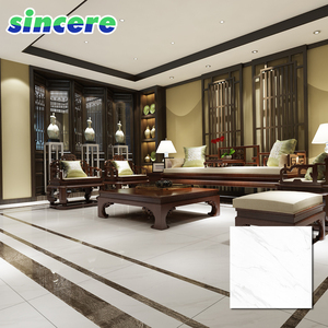 3D inkjet cheap price porcelain full polished glazed wavy gloss white marble tile