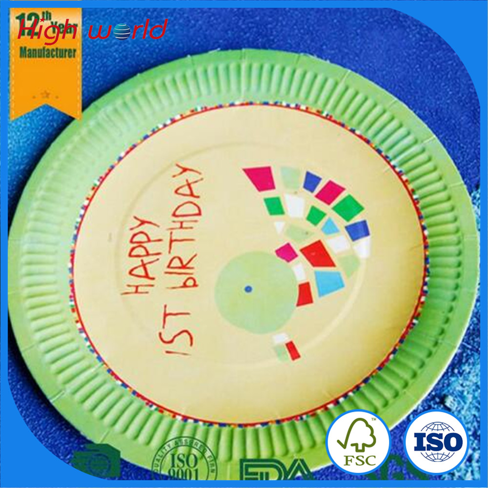 8 inch birthday paper cake <strong>plate</strong> factory, paper dinner <strong>plate</strong>