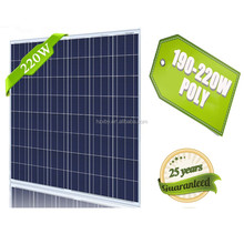 high quality 48 cells 220w poly fotovoltaico solar panel with good raw material and making machine