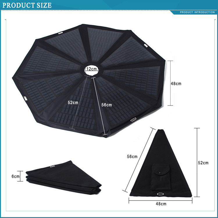 Solar Panel Umbrella Shape 60w Solar Panel Flexible