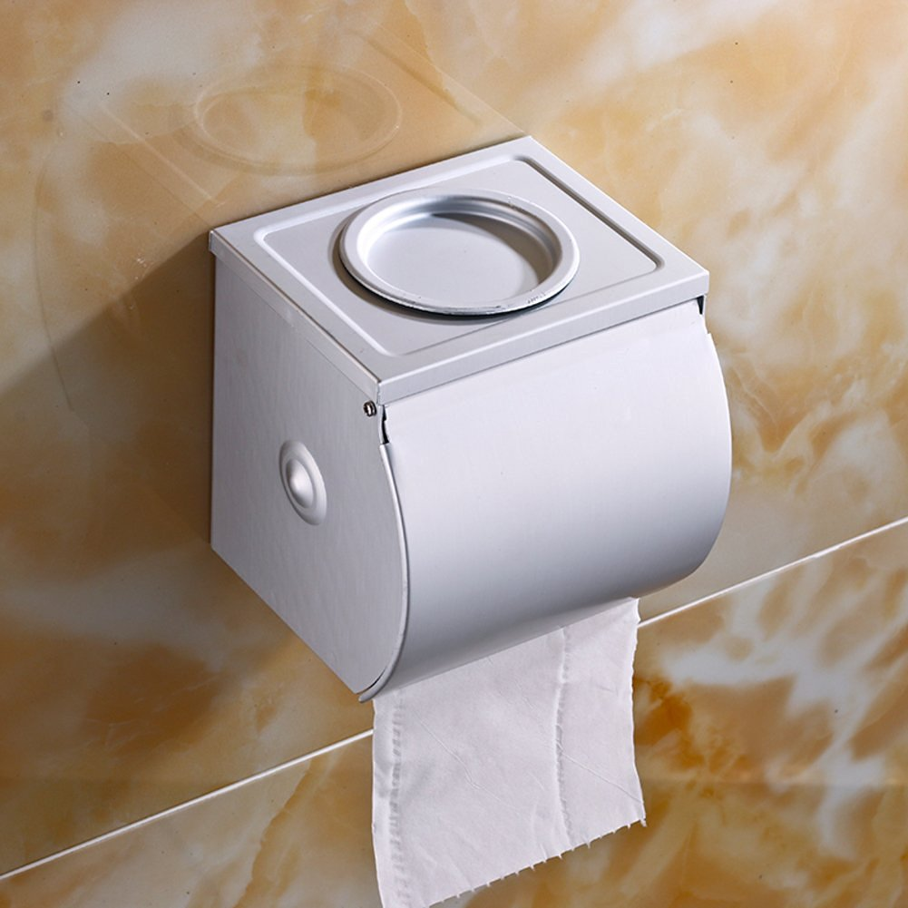 Space aluminum toilet tissue box/Toilet tray/Hygienic tray/Toilet paper holder/Hygienic tray/Tissue-paper basket-B