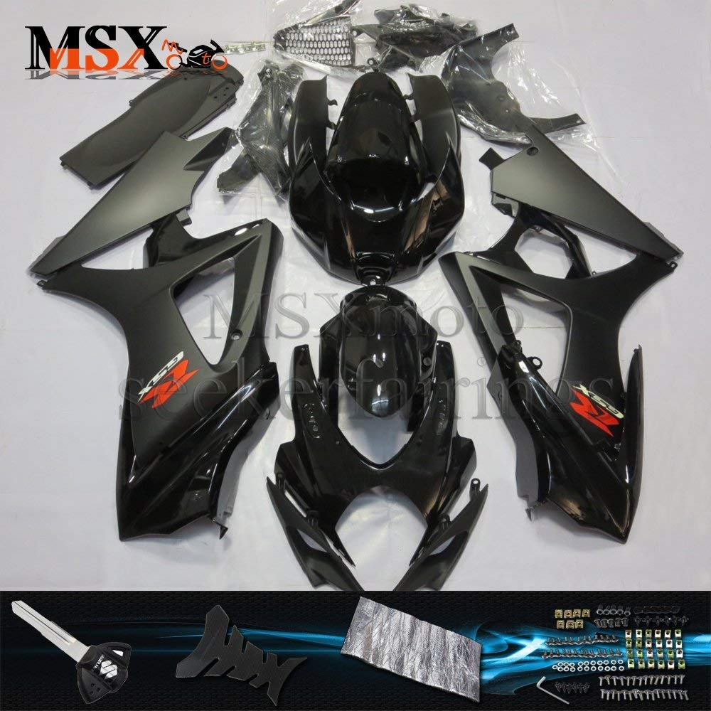 MSXmoto Fairing Kits Fit for Kawasaki ZX6R 2007 2008 ZX636 ZX 6R Ninja 07 08 Motorcycle Fairing Kit Plastic ABS Plastic Injection Molding Kit Complete Motorcycle Fairing Bodywork Painted Green