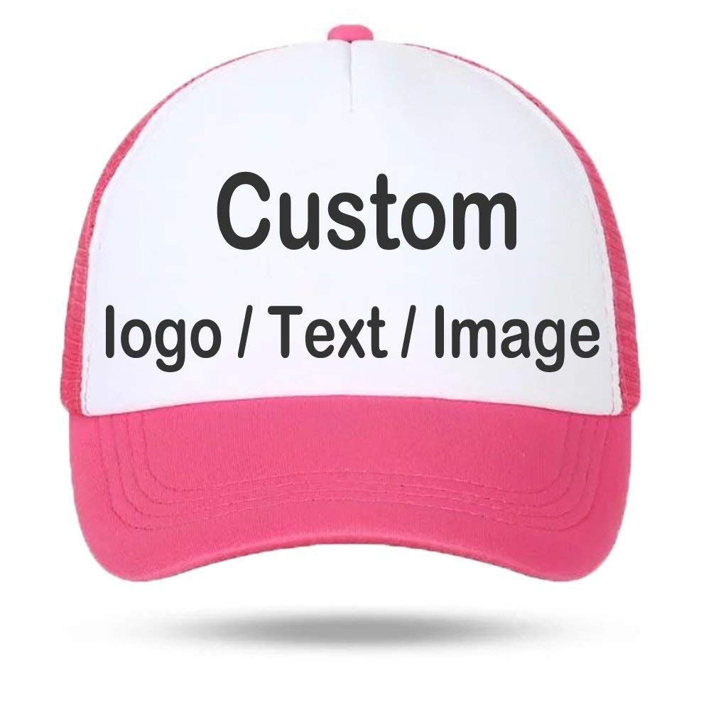 aba2e06047a Get Quotations · Personalized Unisex Mesh Baseball Cap - Custom Your Own  Design Logo Text Photo