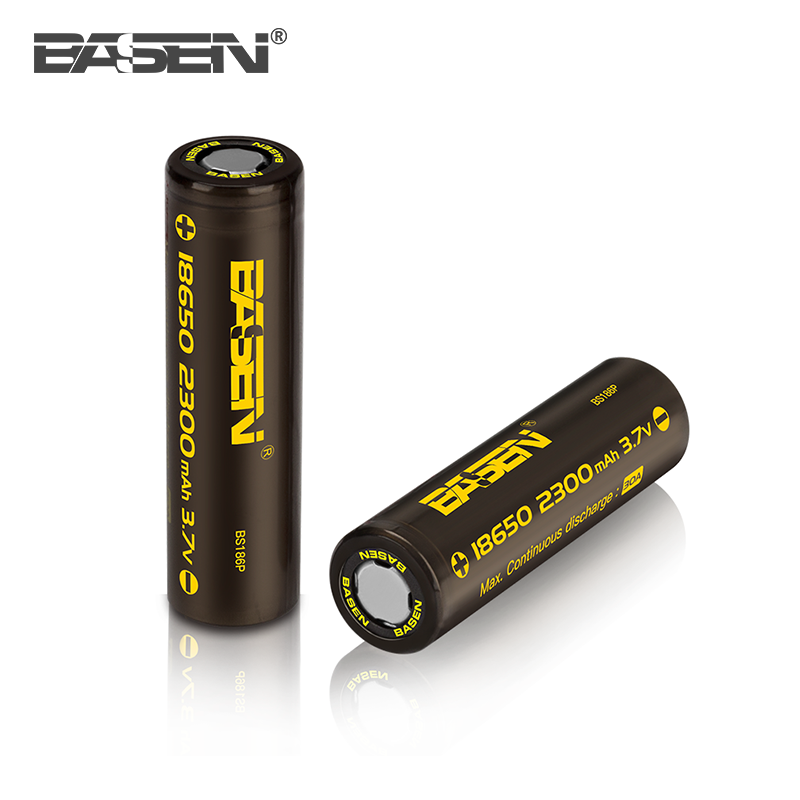 Hot sale!!! shenzhen basen 2300mah 40 amp 18650 battery for lipo battery cell 3.7v 10000mah