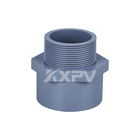Professional China Factory PVC Pipe Fittings CPVC Male Threaded Socket Adapter Coupling