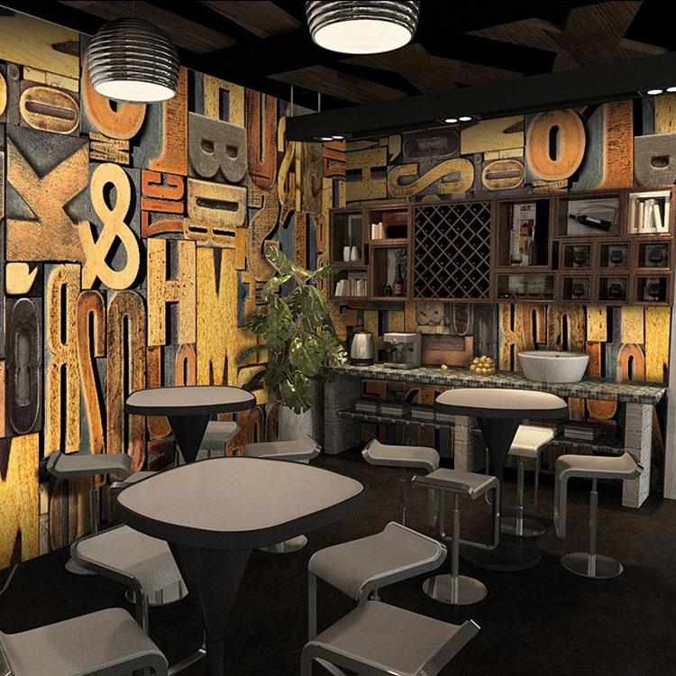 الكلاسيكية مطعم زخارف للحانات جداريات حائطية 3d خلفيات ورق