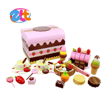 Kids wood kitchen set toy cooking wooden playset